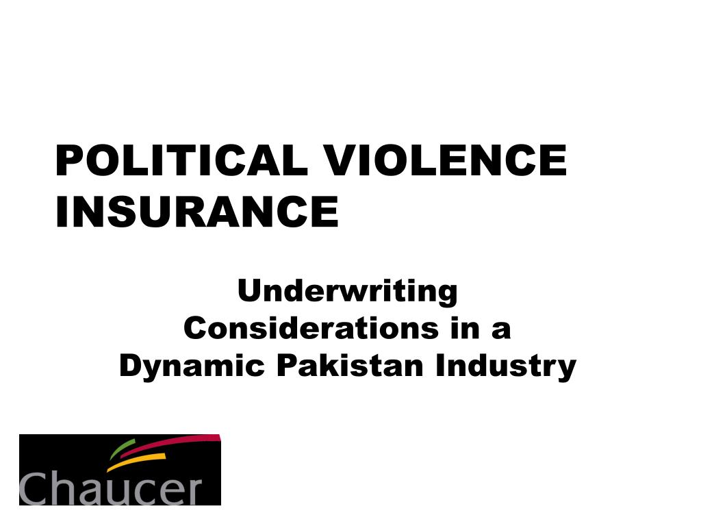 political violence insurance