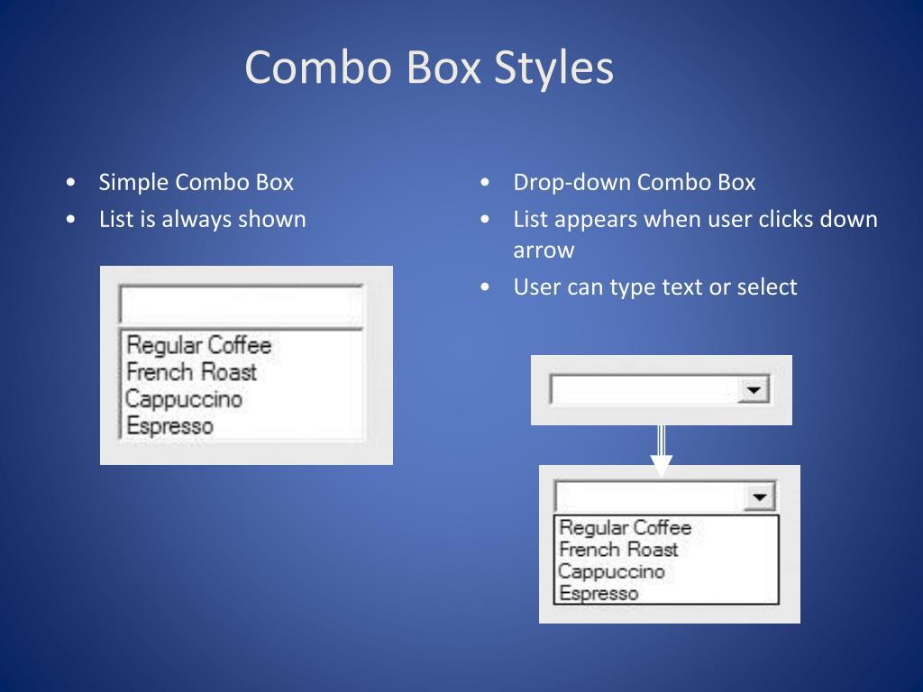 Combo Box Styles