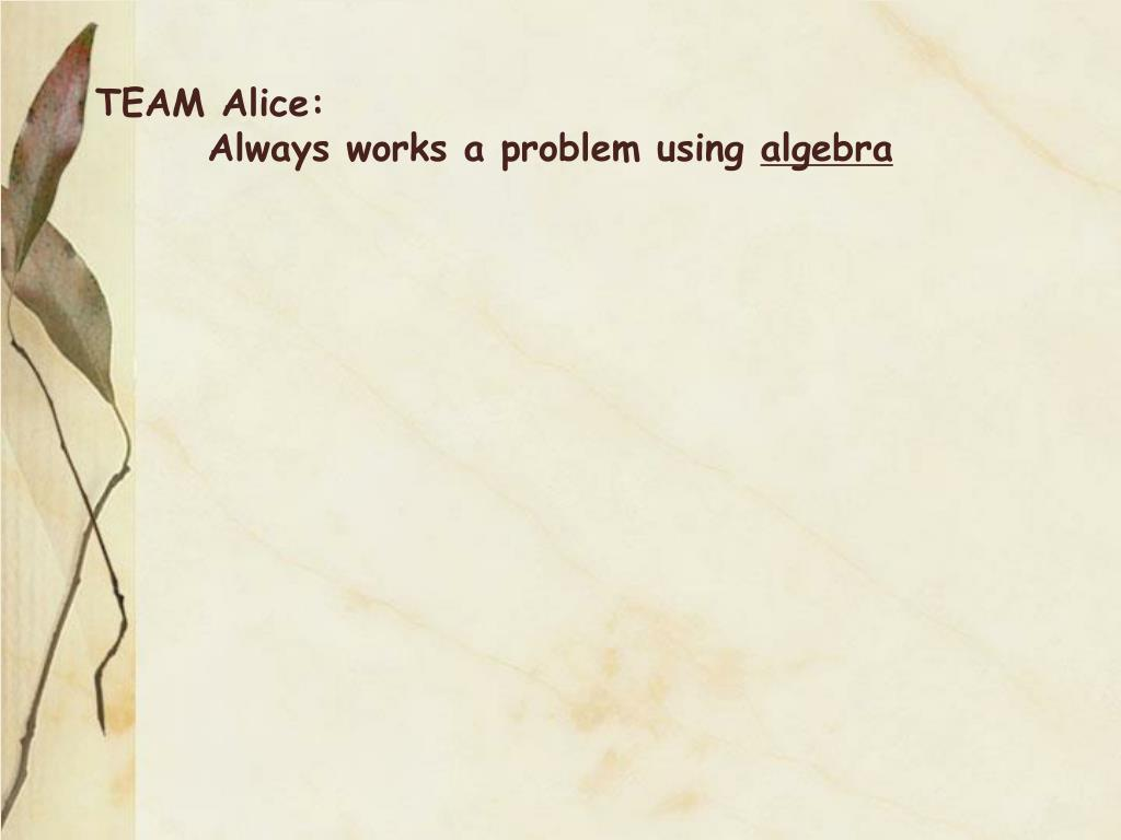 TEAM Alice: