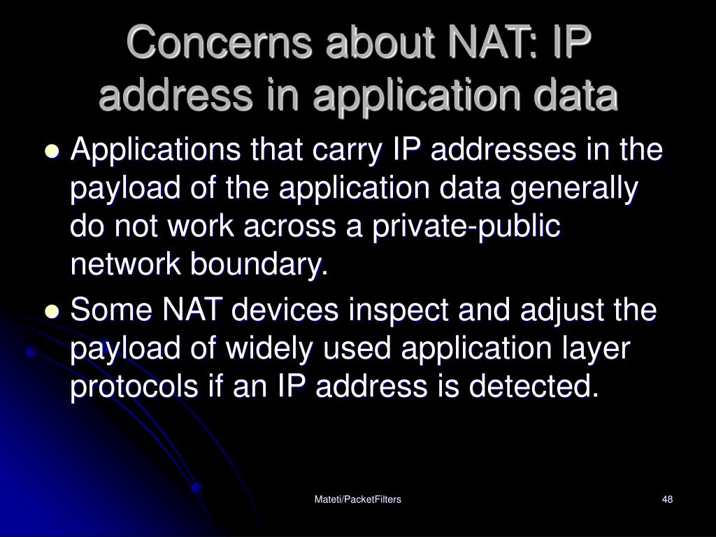 Concerns about NAT: IP address in application data