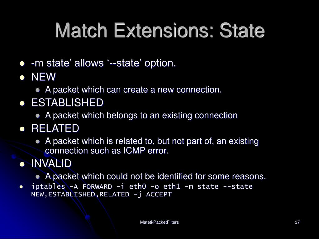 Match Extensions: State