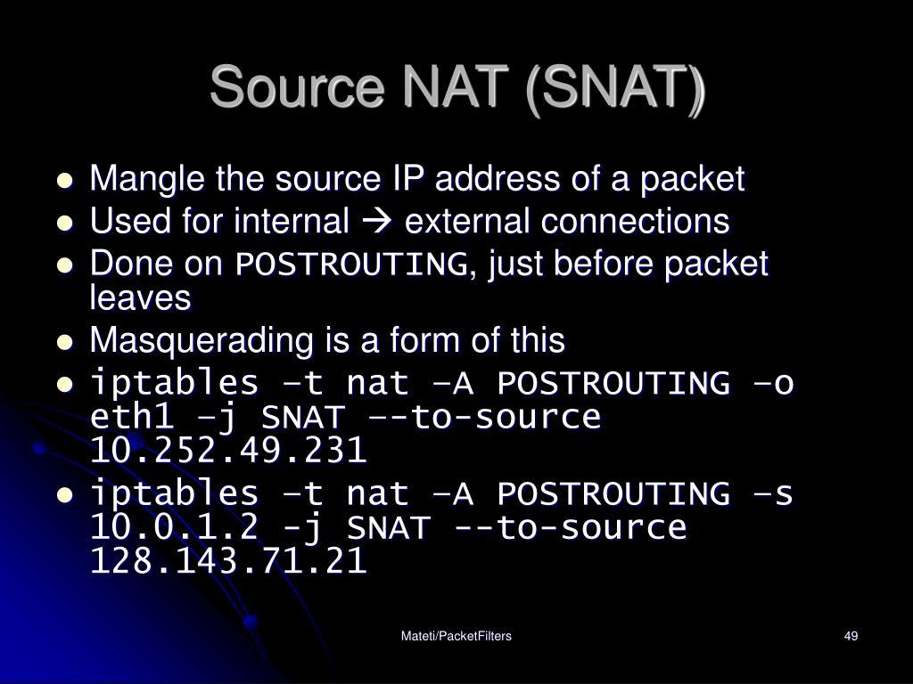 Source NAT (SNAT)