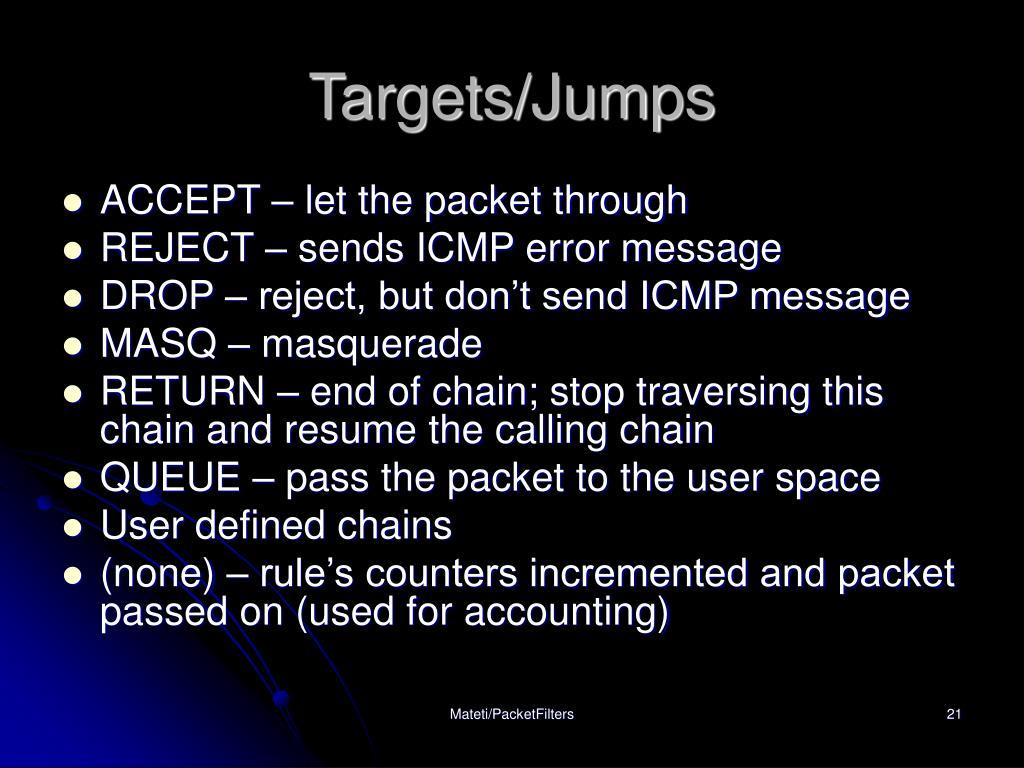 Targets/Jumps