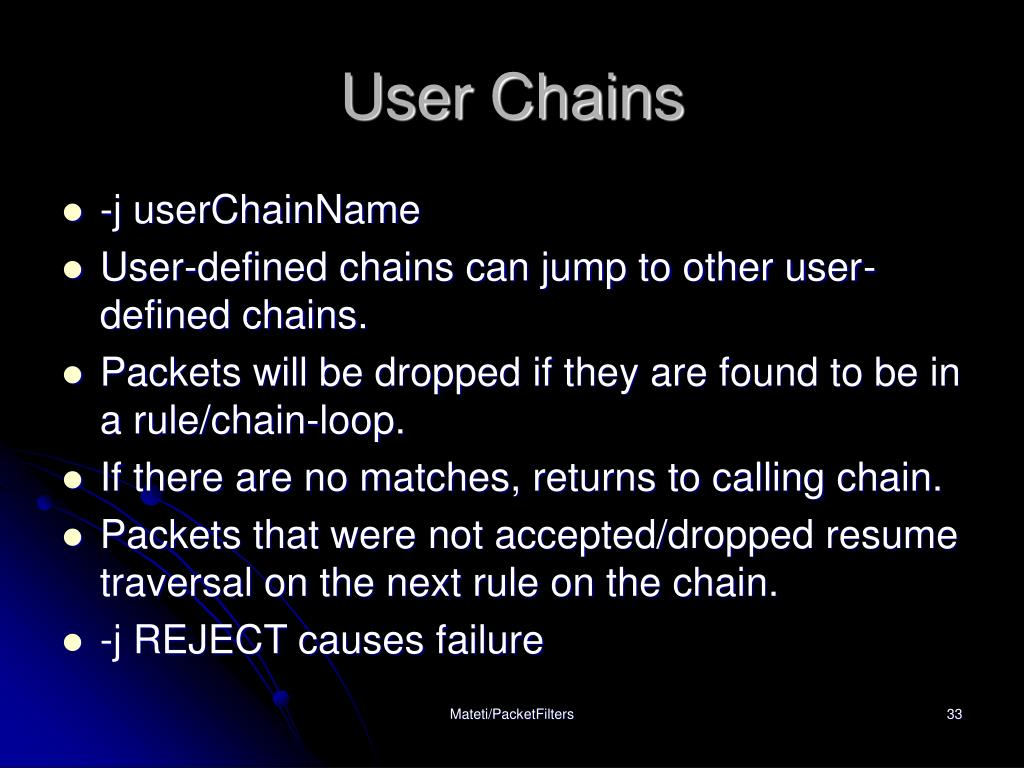 User Chains
