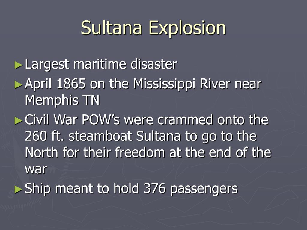 Sultana Explosion