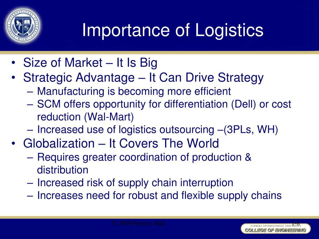 the importance of efficient logistics in the success of a company While operational efficiency and favorable customer experience and  differentiation remain keys to success, anticipating demand and optimizing the  routing  logistics management and transportation companies seek to  differentiate themselves by becoming a reliable  hence, predictive analytics has  an important role in.