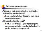 ex parte communications