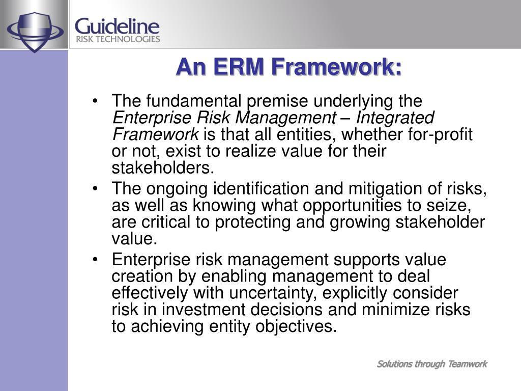 An ERM Framework: