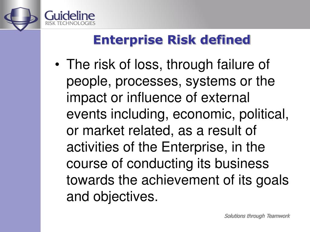 Enterprise Risk defined
