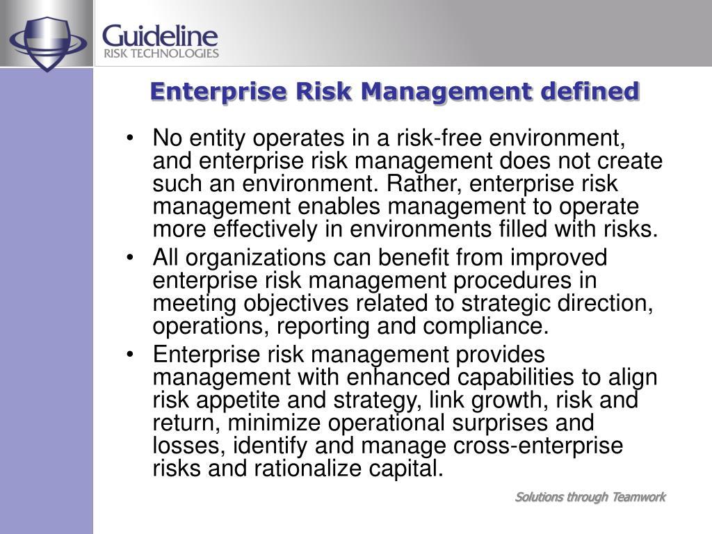 Enterprise Risk Management defined