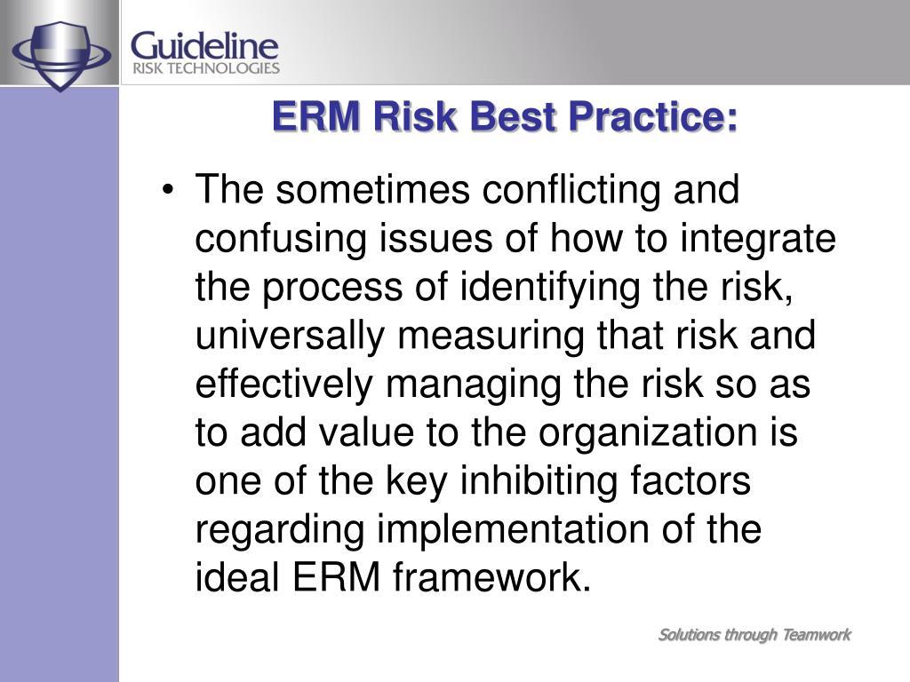 ERM Risk Best Practice: