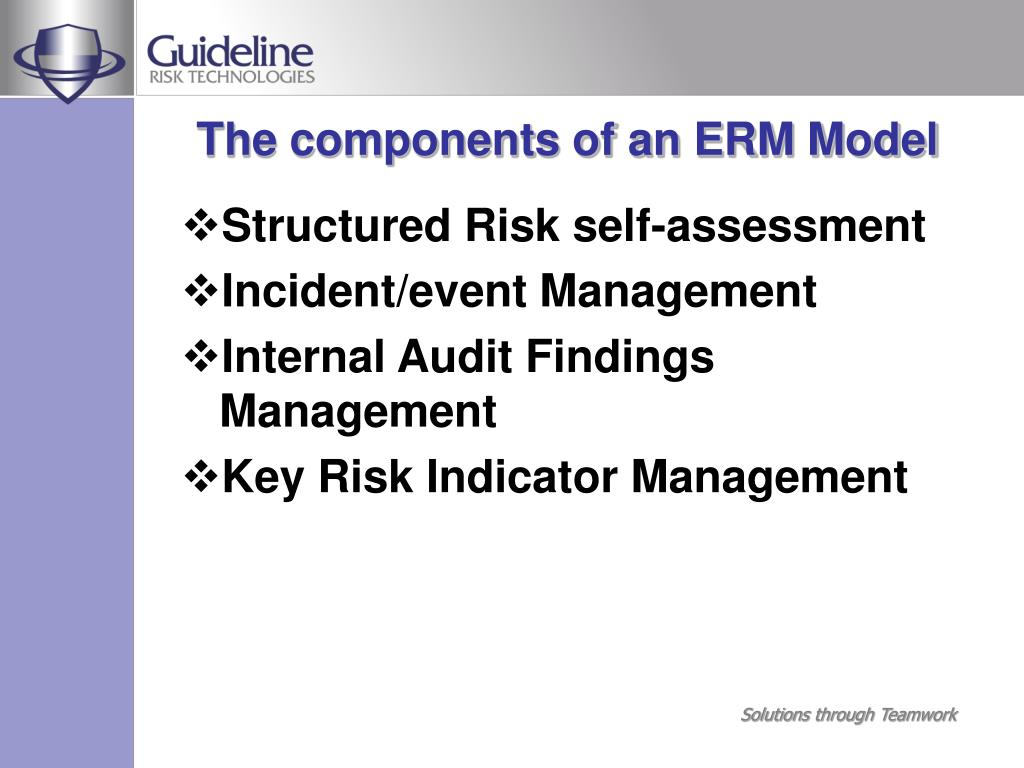 The components of an ERM Model