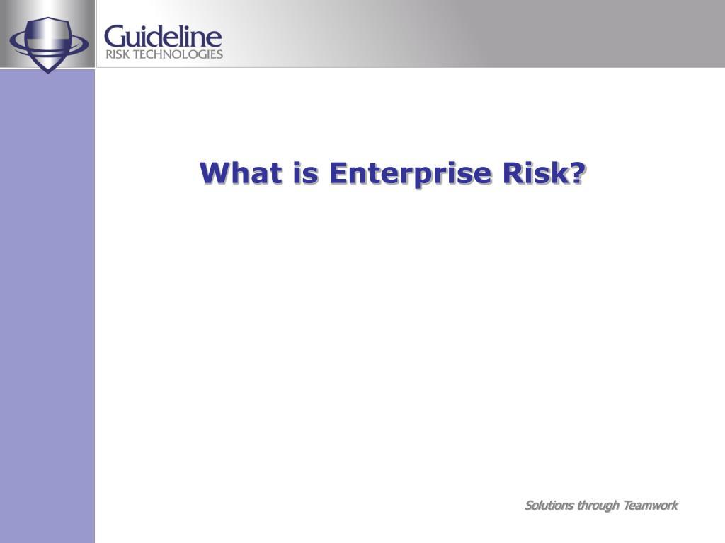 What is Enterprise Risk?