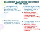 caledonia clubhouse education action plan7