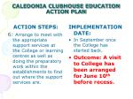 caledonia clubhouse education action plan8