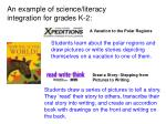 an example of science literacy integration for grades k 2