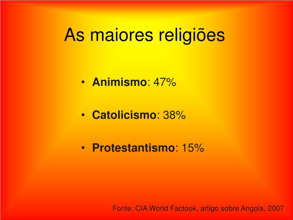 As maiores religiões