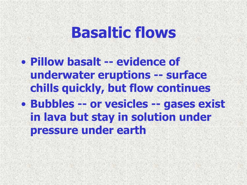 Basaltic flows