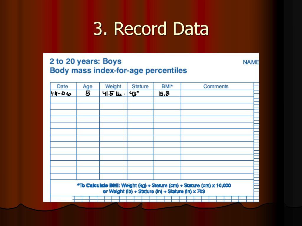3. Record Data