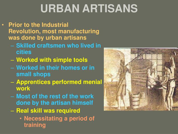 european factory workers and urban artisans essay