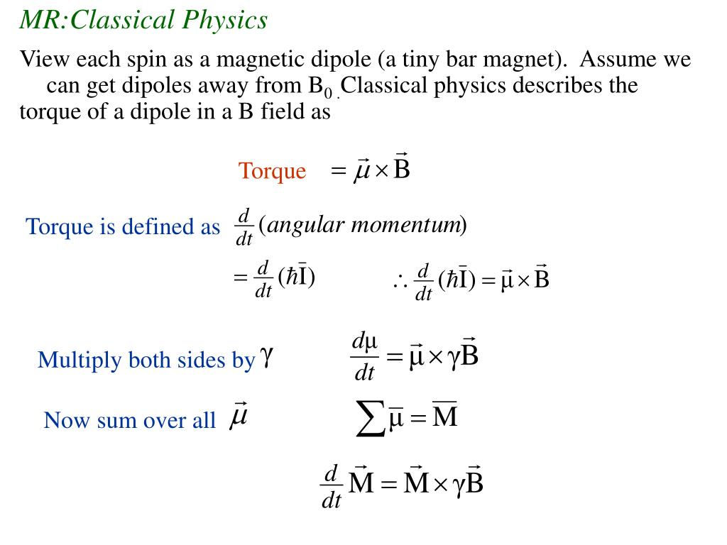 MR:Classical Physics