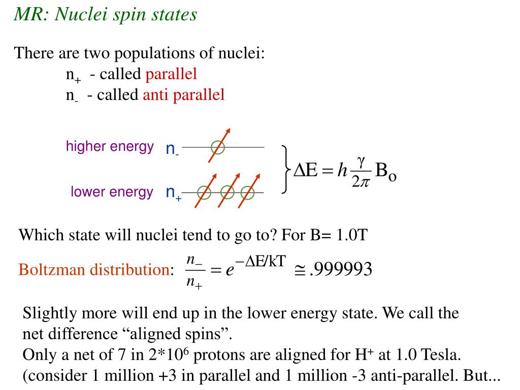 MR: Nuclei spin states