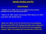genetic studies and pg