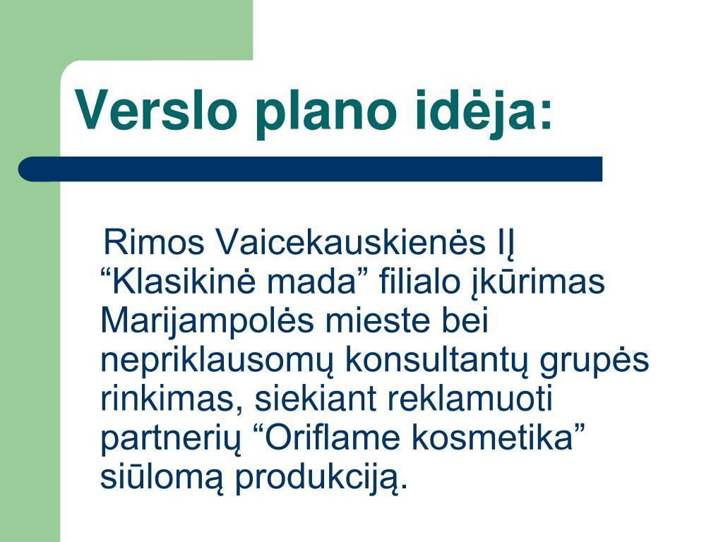 Verslo