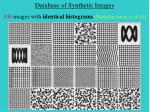 database of synthetic images