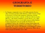 geografia e territorio