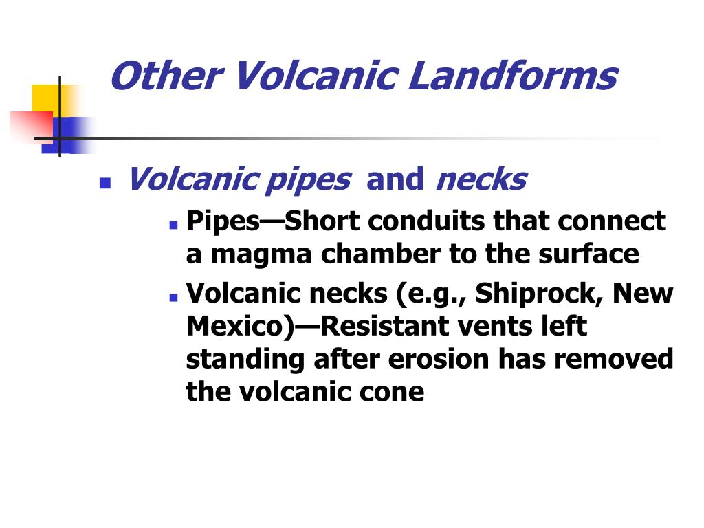 Other Volcanic Landforms