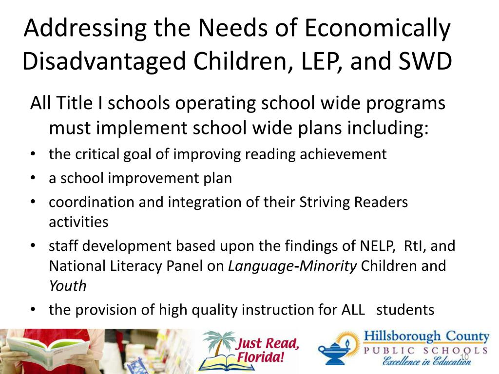 Addressing the Needs of Economically Disadvantaged Children, LEP, and SWD