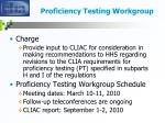 proficiency testing workgroup10