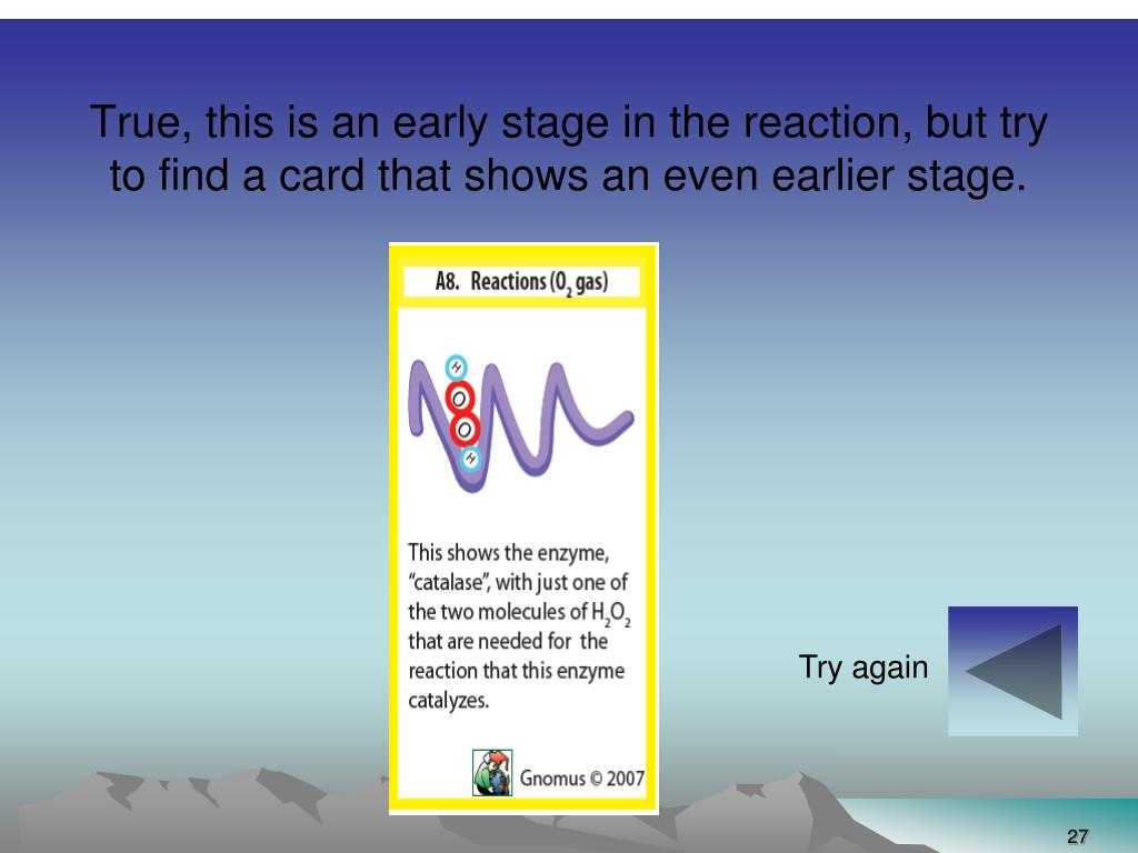 True, this is an early stage in the reaction, but try to find a card that shows an even earlier stage.