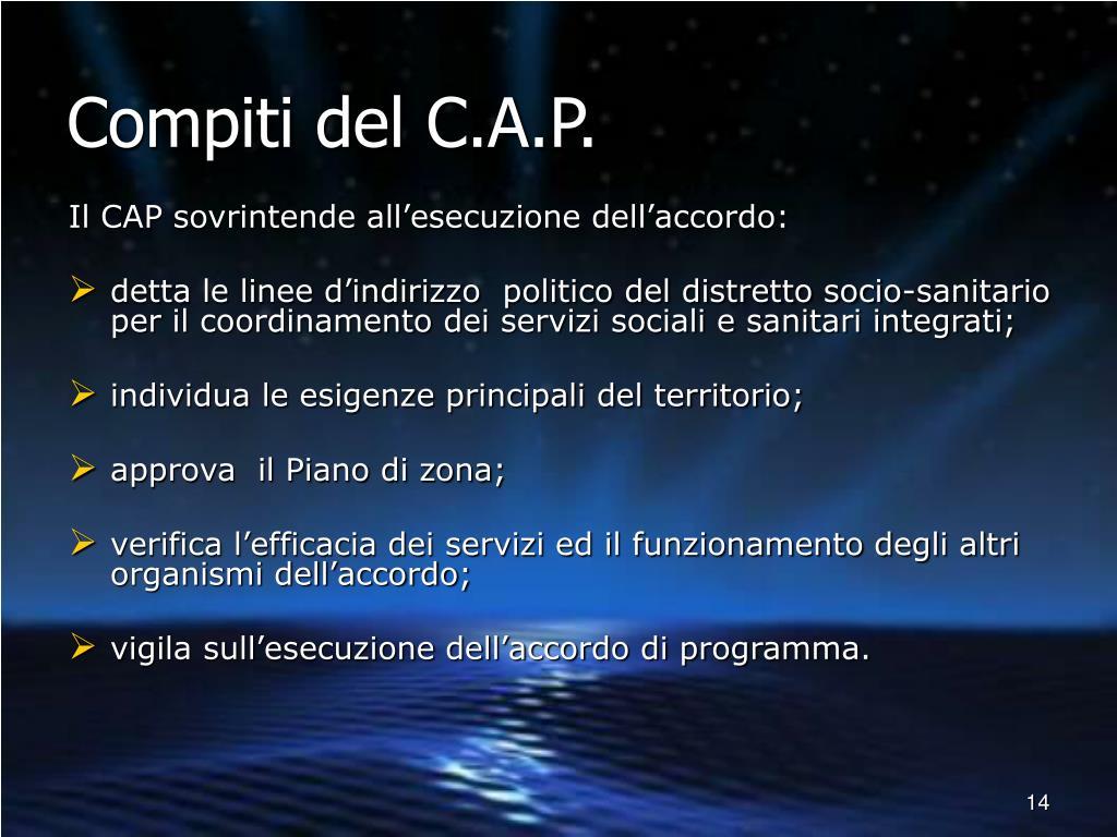 Compiti del C.A.P.