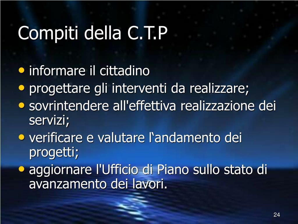 Compiti della C.T.P