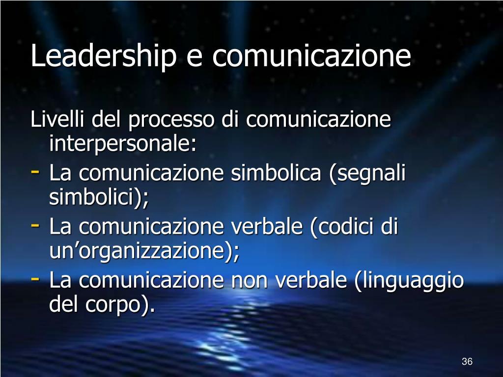 Leadership e comunicazione