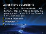 linee metodologiche