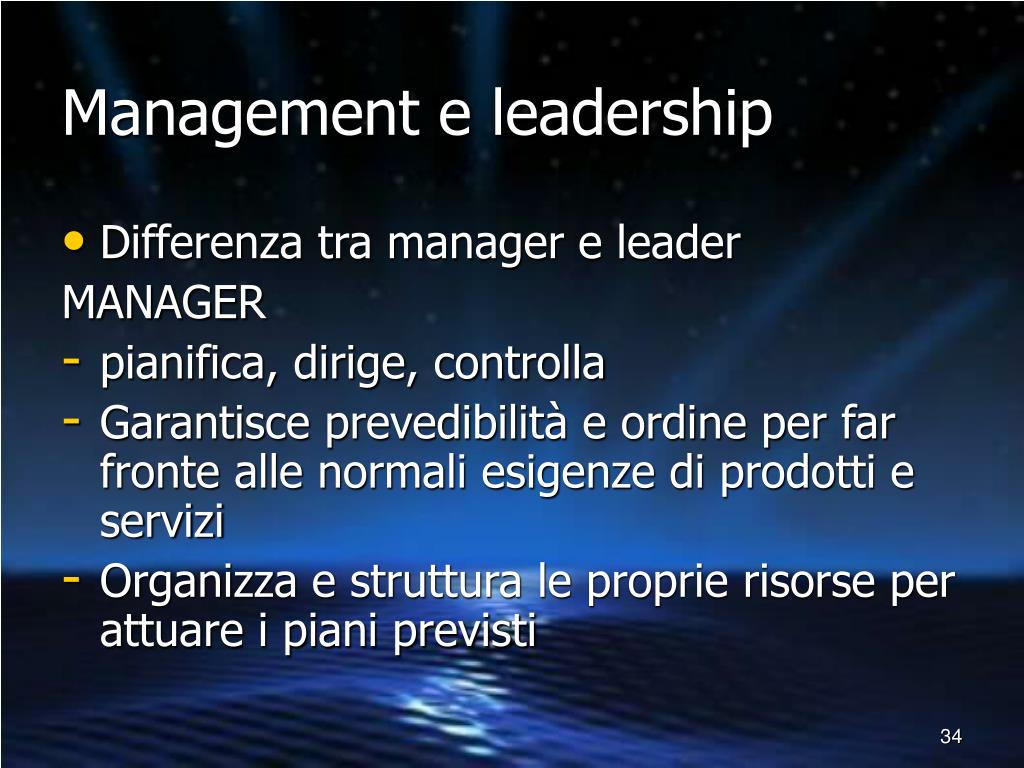 Management e leadership