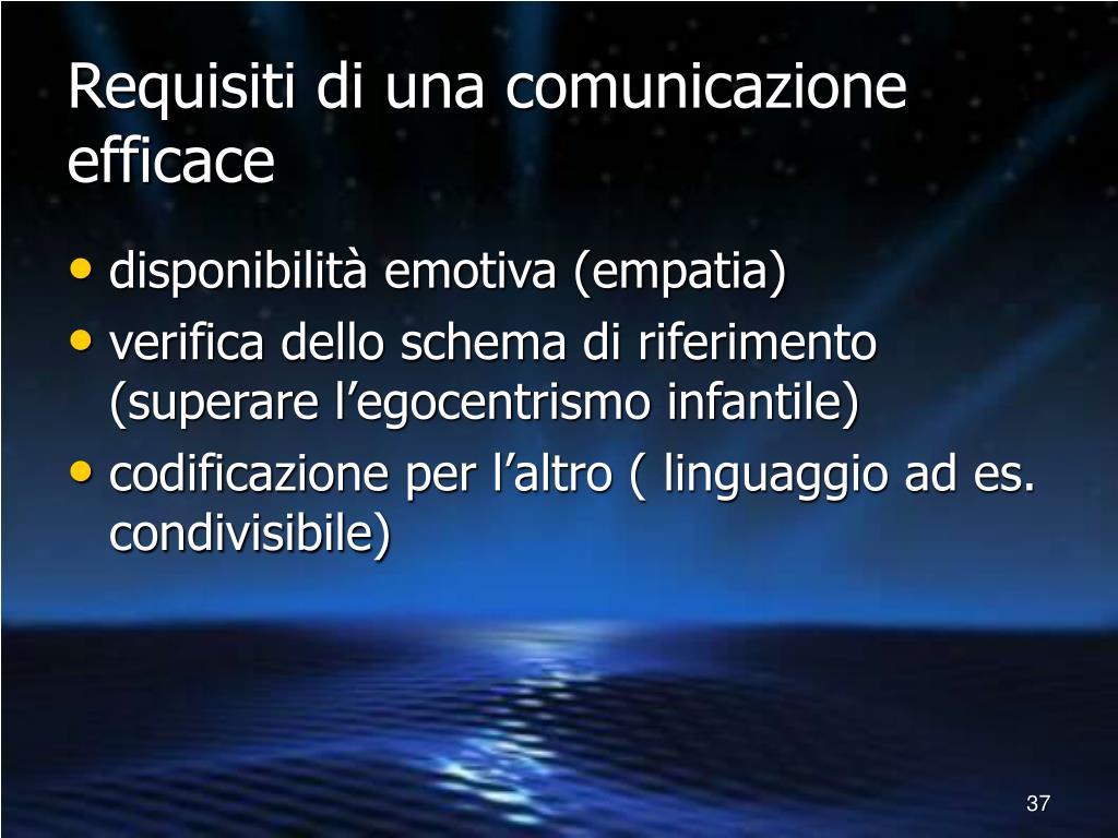 Requisiti di una comunicazione efficace