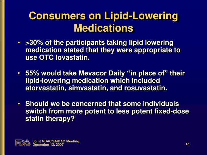 Consumers on Lipid-Lowering Medications