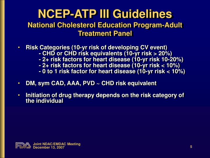 NCEP-ATP III Guidelines