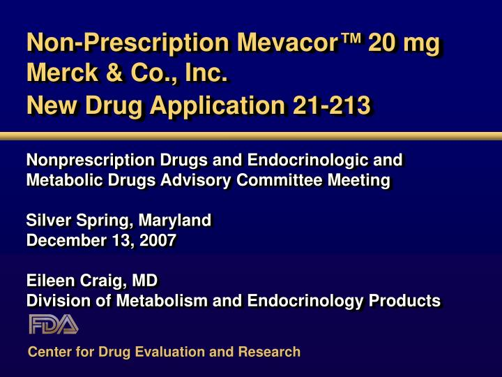 Non-Prescription Mevacor