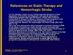 references on statin therapy and hemorrhagic stroke2