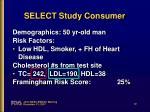 select study consumer