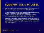 summary ldl tc label1