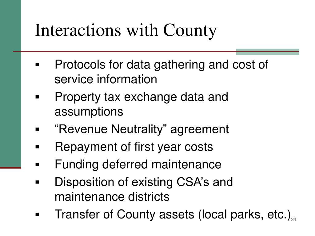 Interactions with County