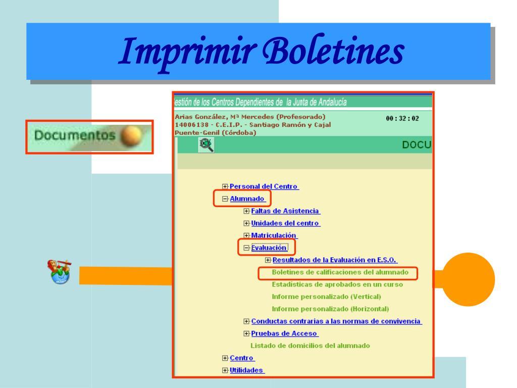 Imprimir Boletines