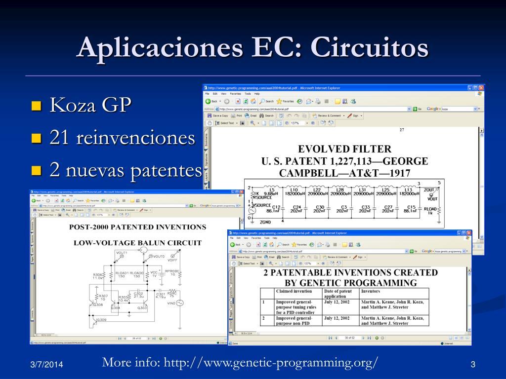 Aplicaciones EC: Circuitos