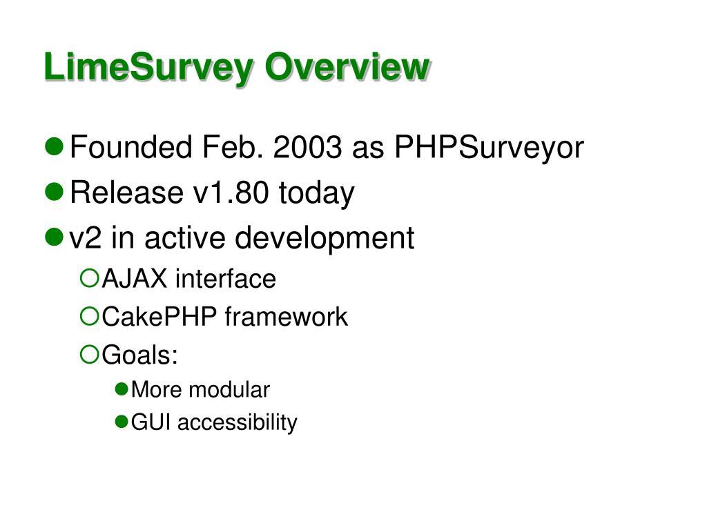 LimeSurvey Overview
